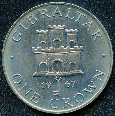 1967 Gibraltar 1 Crown Coin