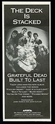 1989 Grateful Dead photo Built To Last album release vintage print ad