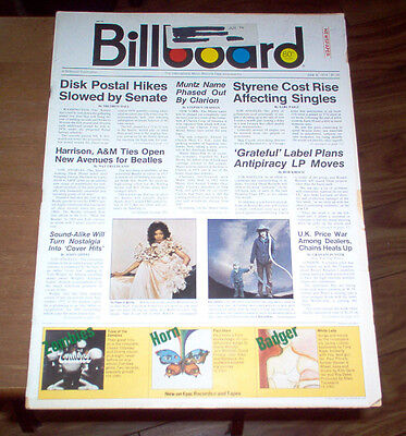 Billboard Magazine June 8 1974 2 Rare Cool Paul McCartney Ads KISS McCartney #1