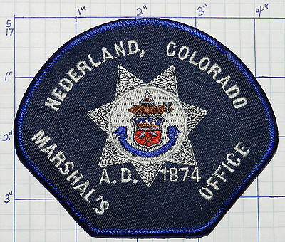 Colorado, Nederland Marshal's Office Police Patch