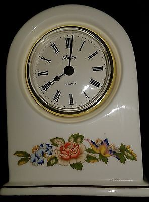 Aynsley Cottage Garden Clock, Fine Bone China, Made in England w/New Battery!