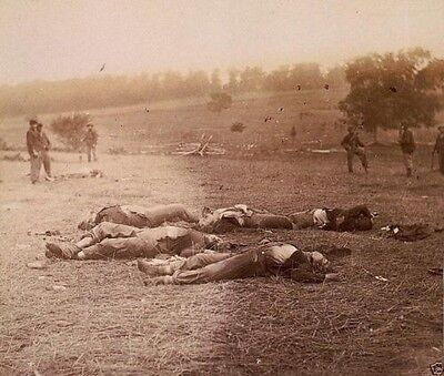 Union Federal Dead from 1st Day - Battle of Gettysburg - 8x10 US Civil War Photo