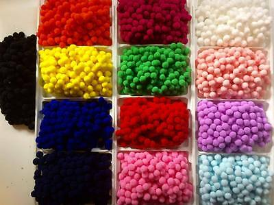 BB 10mm POM POMS pk of 50 craft smooth soft CHOICE OF COLOURS diy craft