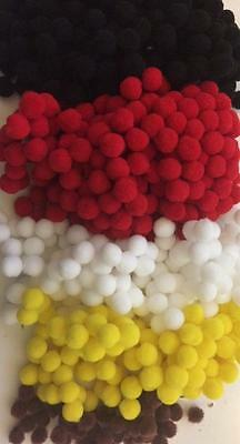 BB 8mm POM POMS pk of 50 craft smooth soft CHOICE OF COLOURS diy craft