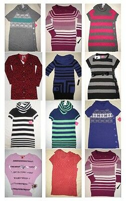 NWT 12 Youth Girl Long/Short Sleeve Fall Knit Tunic Top Shirt Resale Lot NEW