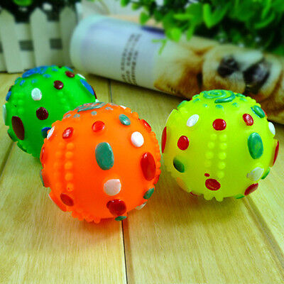 Pet Dog Puppy Training Large Giggle Ball Chew Squeaky Sound Activity Play Toys