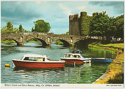 WHITE'S CASTLE AND RIVER BARROW ATHY Co. KILDARE 1990 USED JOHN HINDE POSTCARD