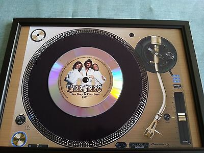 Bee Gees How Deep Is Your Love Memorabilia Presentation Disc Frame