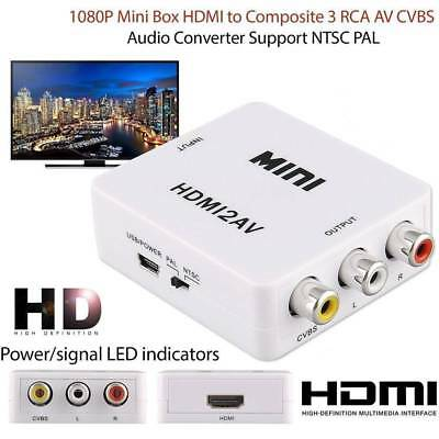 1080P HDMI to Composite CVBS 3RCA AV Video Audio Converter Box Support NTSC PAL