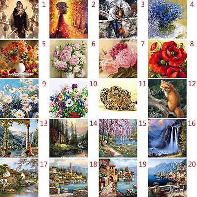 40*50cm Rome Wall Landscape Oil Painting By Number Kit Digital DIY Picture Decor