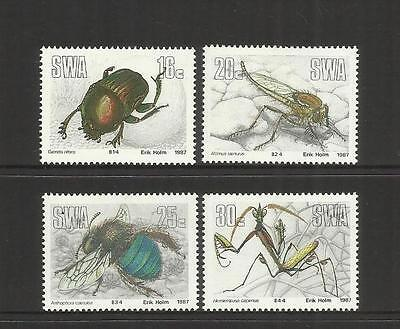 Swa (Namibia) Rsa ~ 1987 Useful Insects (Mint Set Mh)