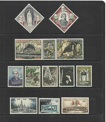 Monaco ~ 1958 Centenary Of Apparition Of Virgin Mary At Lourdes (Mint Mnh)