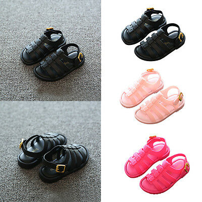 Summer Children Kids Girls Boys Antiskip Buckle Jelly Shoes Casual Romen Sandals