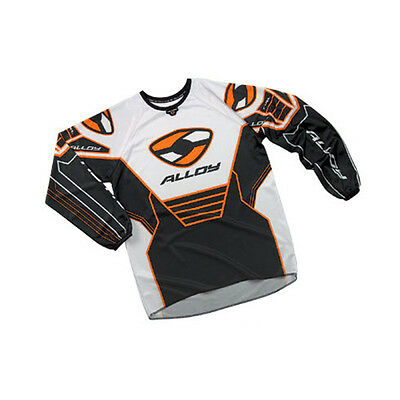 ALLOY MX MOTOCROSS JERSEY SHIRT 04 FUEL WHITE / BLACK / ORANGE bike top
