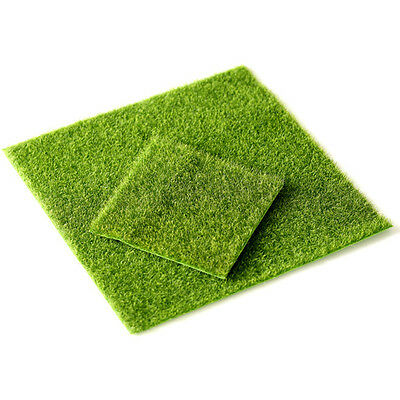 Synthetic Garden Grass Fake Lawn Miniature Fairy Ornament Dollhouse Craft Decor