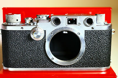 Leica IIIf Rangefinder Screw Mount SM Camera 1950 Excellent Mechanical