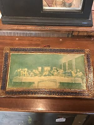 Very Old Russian Picture Jesus Last Supper On Wood Picture Inherited Item