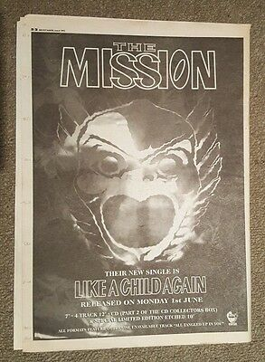 Mission like a child again 1992 press advert Full page 30 x 42 cm mini poster