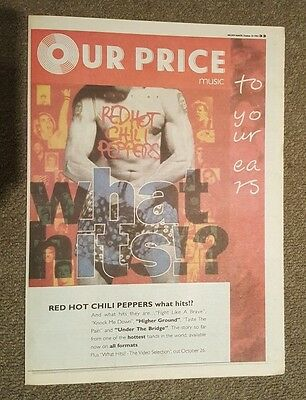Red Hot Chilli Peppers hits!? 1992 press advert Full page 30 x 42 cm mini poster