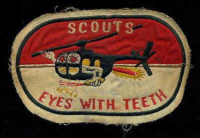 US Army B Troop 2nd Squadron 17th Cavalry Scouts Helicopter Vietnam Patch S-24