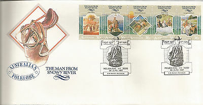 Australia Fdc-1987 Folklore-The Man From Snowy River