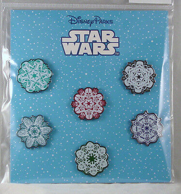 Disney Trading Pins STAR WARS SNOWFLAKES  Booster Set of 6 *NEW*