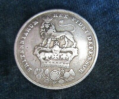 1826 silver shilling coin - George IV