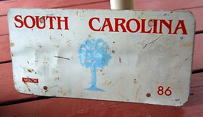PRISON / STATE INDUSTRY PRODUCED - Blank license plate - SOUTH CAROLINA 1986