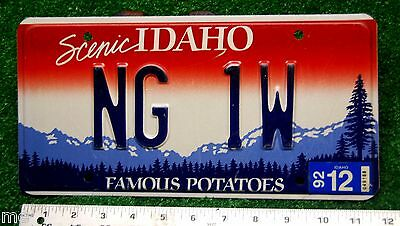 IDAHO - 1992 National Guard - CHIEF WARRANT OFFICER #1 license plate