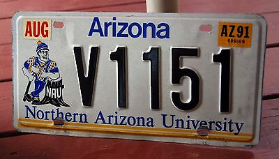 ARIZONA - NORTHERN ARIZONA UNIVERSITY 1991 license plate - sharp graphics