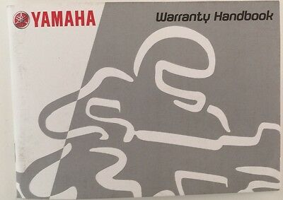 YAMAHA - MOTORCYCLE or SCOOTER WARRANTY & SERVICE LOG BOOK BLANK NEW (NEW STYLE)