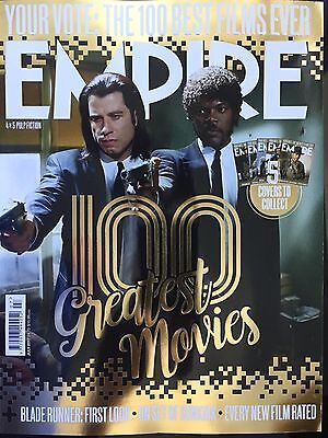 Empire Magazine July 2017 (100 Best Films Ever,  Pulp Fiction Cover) New