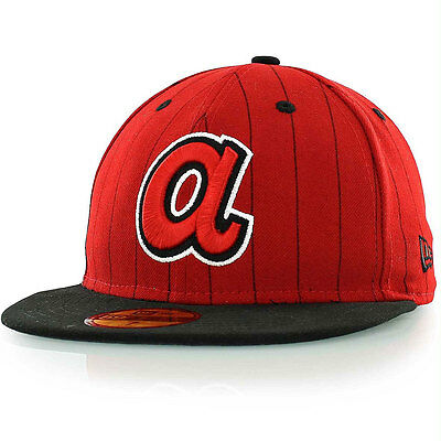 Atlanta Braves Side Striper Cooperstown MLB 59FIFTY [5950] Fitted Cap