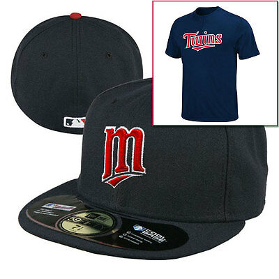 Minnesota Twins 5950 MLB New Era Fitted Cap + 2 Button T-shirt - saving over 40%
