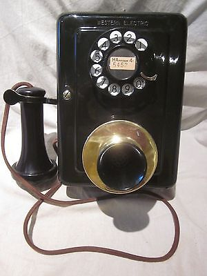 Western Electric Metal Wall Telephone Model 653 - 1920s/1930s