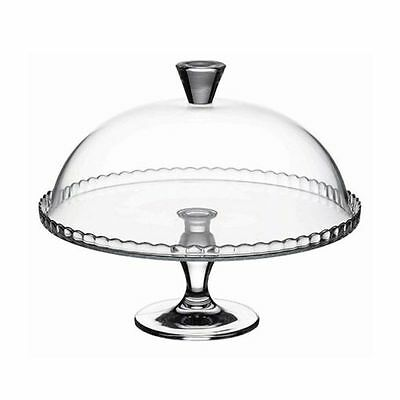 Glass Birthday Cake Cupcake Muffin Display Stand Serving Plate with Dome Lid