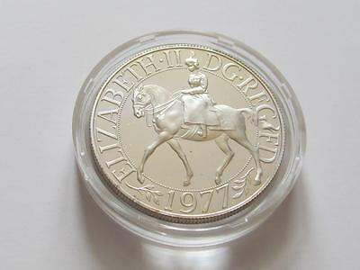 GB Royal Mint encapsulated Silver Jubilee Silver Proof 25 Pence 1977
