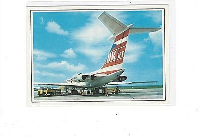 CSA Airlines issued IL-62  cont/l  postcard