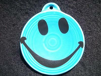 SMILEY FACE on a Fiesta® PEACOCK Ornament - Just Dishes Exclusive