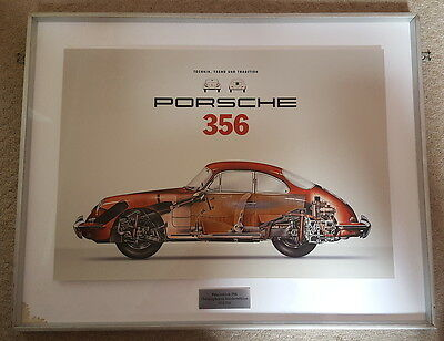 Genuine Porsche 356 Framed Print, Christophorus Limited Collectors Edition