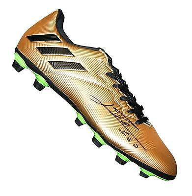 Lionel Messi Official Signed Gold Adidas 16.4 Boot Autograph Cleat