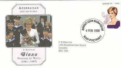 (02392) Azerbaijan FDC Princess Diana Death 4 February 1998