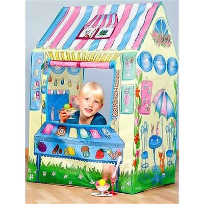 Childrens Popup Town Ice Cream Playhouse - Play Tent Kids Shop House New Indoor