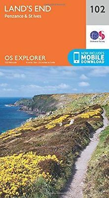NEW - OS Explorer Map (102) Land's End, Penzance and St Ives (Map) - 0319243044