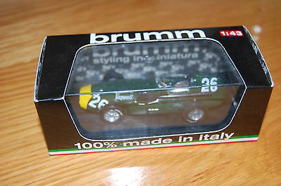 "Brumm 1:43 Scale ""VANWALL F.1"" GP Italia 1958 - Stirling Moss R199 - (NEW)"