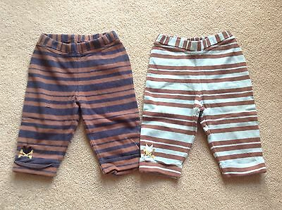 *No Added Sugar* Two stripy trousers , Size 18 Months