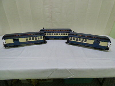 Bachmann G Gauge The Blue Comet CNJ Combine & Observation Passenger Cars