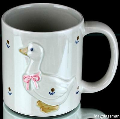 Otagiri MOTHER GOOSE Coffee Mug PINK BOW Embossed UNUSED