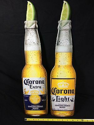 Corona Extra Light Beer Signs Tin Metal Tackers Tiki Bar Pub Brand New!