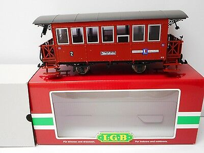 LGB 33200 Zillertalbahn Passenger Car Lighted Interior, Metal Wheels G Scale